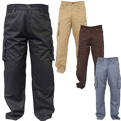 Motorcycle Work Combat Cargo Trousers Jeans Reinforced by Protective Lining 4COL