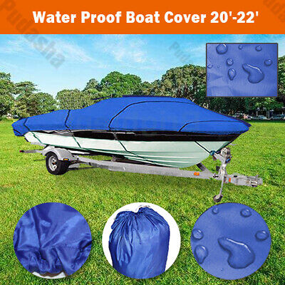 20 21 22 ft Trailerable Fishing Ski Bass Boat Cover Waterproof 100'' Beam PBT3N