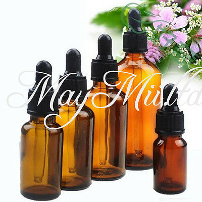 100ml Amber Glass Liquid Reagent Pipette Bottle Eye Dropper Aromatherapy Y