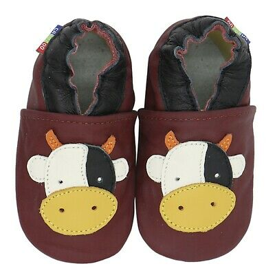 carozoo fire dragon brown 3-4y soft sole leather toddler boys shoes