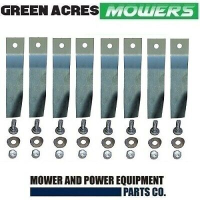 """4 X Blade Kits For 32"""" Cox Ride On Mower (8 Harderned Blades And Bolt ) Skit55"""