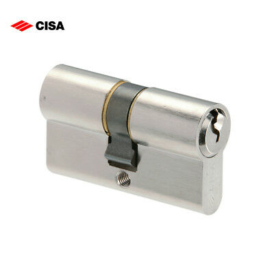 Cisa Euro Profile Double Cylinder 45/55 Nickel Plated - New