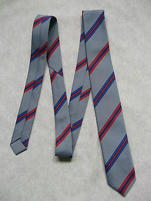 Boys Vintage Tie Mod Casual 1970's 1980's Bnwot New Age 4-10 Grey Red Blue