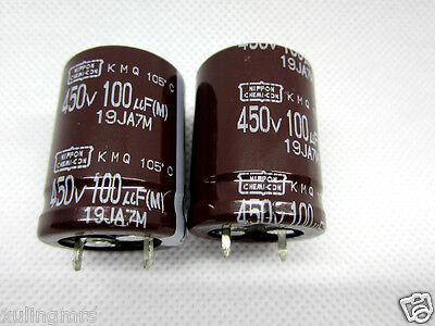 2pc nippon 100uF 450v Capacitor for tube amp