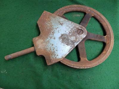 "Large Vintage Industrial 16"" Pulley Heavy Duty Cast Iron Steampunk 3258-14"