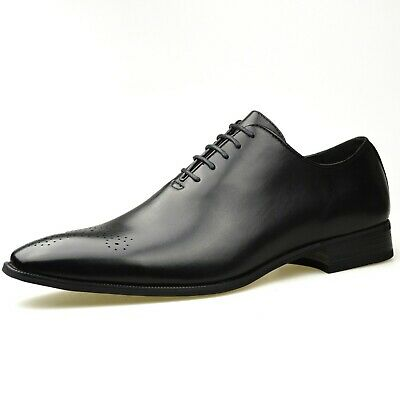 Mens Fashion New Black Leather Oxford Shoes Formal Smart UK Size 6 7 8 9 10 11