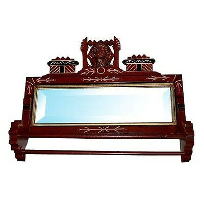Fabulous 19th C. Antique American Victorian Towel Bar & Mirror #6623