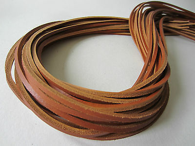 180 cm SADDLE TAN LEATHER 3.5mm SQUARE SHOE / BOOTS LACES THONGS EXTRA  STRONG