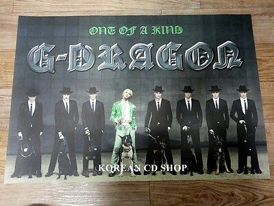 G-DRAGON 1ST MINI ALBUM ONE OF A KIND *Official POSTER * BIG BANG BIGBANG