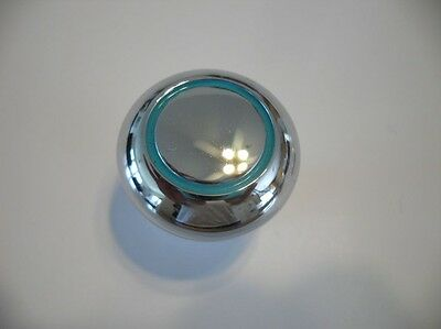 Art Deco Style New Heavy Chrome KNOBS TURQUOISE Circles Amerock Pulls Handles