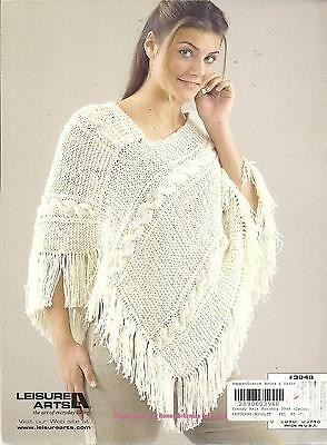 Trendy Knit Ponchos Pattern Book 4 Designs For Women - Leisure Arts