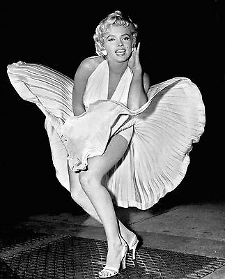 MARILYN MONROE WIND Fly Dress POSTER FRAMED ON CANVAS & MOUNTED ...