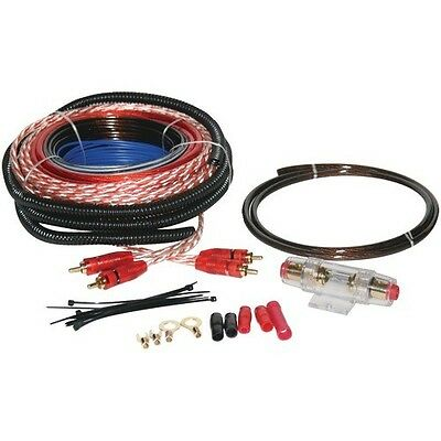 SoundQuest SQK8 8 Gauge Amplifier Wiring Kit With 80A Fuse & AGU Fuseholder