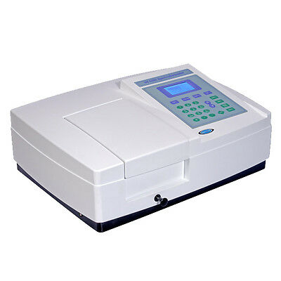 VIS Visible Spectrophotometer 2nm Bandwidth 320-1100nm Range with PC Software