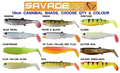 SAVAGE GEAR 10cm CANNIBAL 4PLAY SHADS GAME SEA COARSE FISHING SPINNING ROD LURE