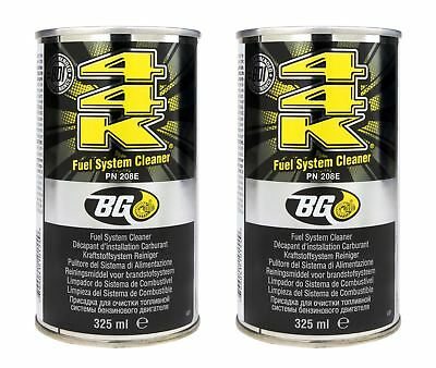 2 x GENUINE BG44K Fuel Injector & Engine Cleaner With Disposable Funnels