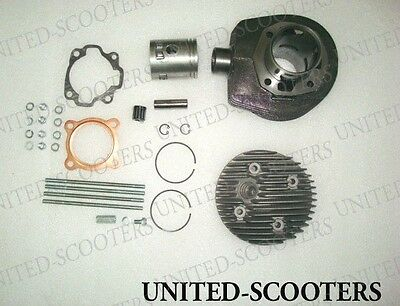 VESPA PX LML CYLINDER PISTON HEAD PIN TYPE WITH SPARES 150 cc 3 PORT NEW P2007