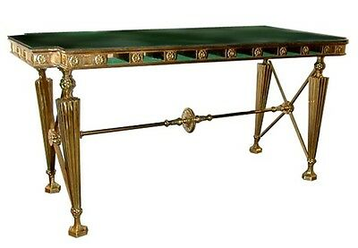 Beautiful 19th C. Gorham Bank Table with Marble Top #5626