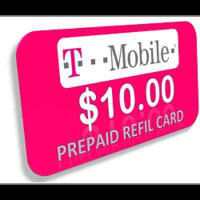 T-Mobile Pay As You Go Phone Refill Card $10 FASTEST REFILL ON eBay