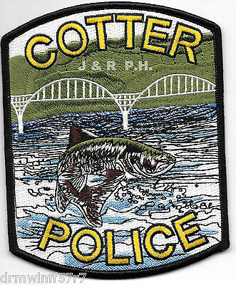 "Cotter, AR  (4"" x 5"" size)  shoulder police patch (fire)"