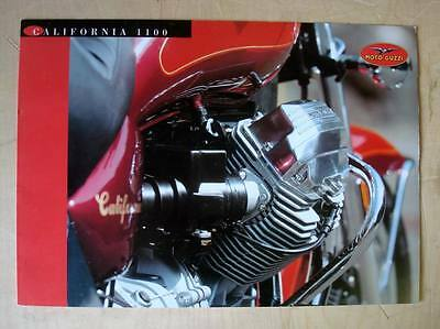 MOTO GUZZI CALIFORNIA 1100 - Motorcycle Sales Brochure - English & Italian Text