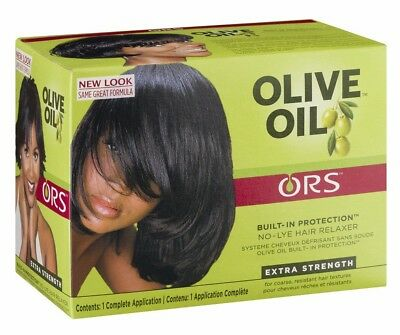 Organic Roots Olive Oil Hair Relaxer No Lye - EXTRA / SUPER STRENGTH Full Kit