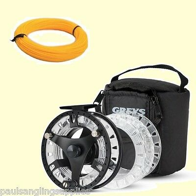 Greys GTS 500 Fly Fishing Reel - 3 Spools & Case Free Fly Line