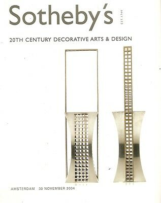 Sotheby's 20th Century Decorative  arts & Design Amsterdam Auction Catalog 2004