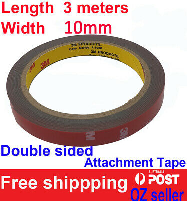 3M Genuine Automotive Acrylic Plus Double Sided Attachment Tape 10mm
