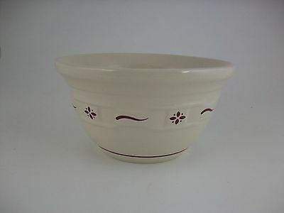 Longaberger Pottery Medium Mixing Bowl Traditional Red 8""