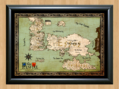 Game Of Thrones Drawing Map GoT Deco A4 Photo Print Poster TV Show Memorabilia