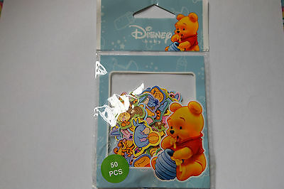 CUTE PARTY NEW GIFT DISNEY BABY WINNIE THE POOH STICKER 50 PCS