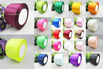 "25Yds 50mm (2"") Multicolor Wedding Party / Craft / DIY Satin Ribbon You pick"