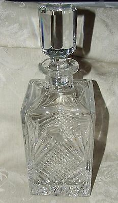 ROGASKA Fine Crystal DECANTER with Stopper #43 Diamond Cut & Fans Signed