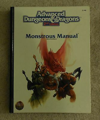 dungeons & dragons monstrous manual  2nd edition book    exc