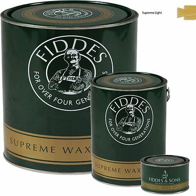 Fiddes Supreme Light/Clear Wood Wax Polish/Restorer For Furniture/Doors/Woodwork