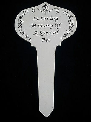 In Loving Memory of a SPECIAL PET Grave memorial Stake Grey New