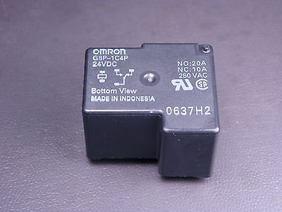 G8P-1C4P-DC24 Omron Relay SPDT NO 20A NC 10A 250VAC 24VDC Coil Fully Sealed Used