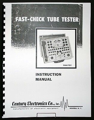 Century Electronics FC-2 Tube Tester Manual