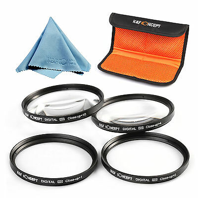 40.5 52 58 62 67 mm Close Up Macro +1 +2 +4 +10 Lens Filter Kit For Canon Nikon