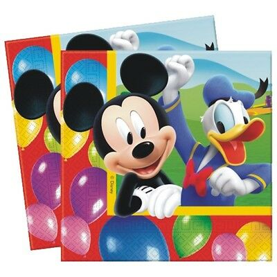 """20 Disney Mickey Mouse Clubhouse Balloons Birthday Party 6.5"""" Party Napkins"""