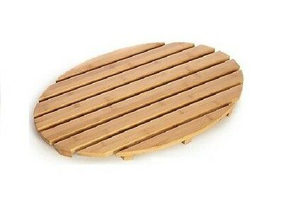 New Natural bamboo wood wooden oval bath shower duck board slatted Mat Non Slip