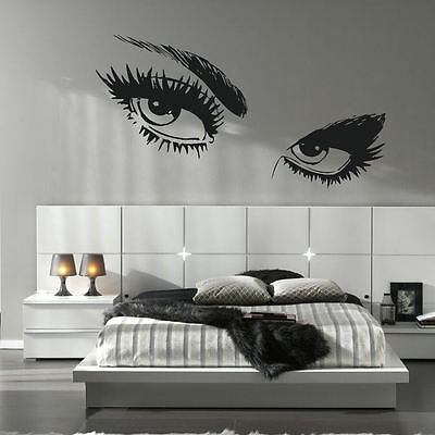 """UNICORN CLOSED EYES W// BOW PERSONALIZED NAME LARGE WALL DECAL VINYL ART 22/"""" TALL"""