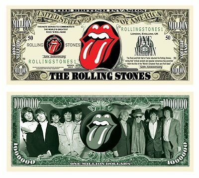 50 Factory Fresh The Rolling Stones Million Dollar Bills