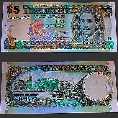 Barbados 5 Dollars 2007 Unc. Pick:67a #
