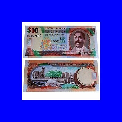 Barbados 10 Dollars 2007 Unc. Pick:68a #
