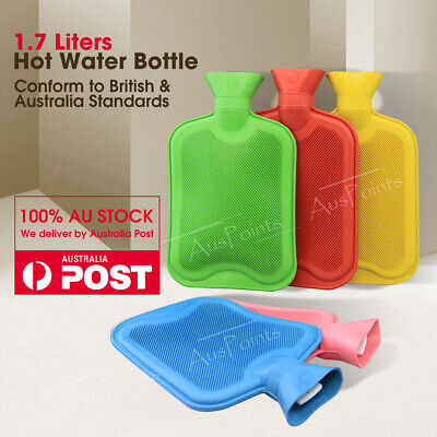 1.7 Liter Rubber Hot Water Bottle Winter Warm Water Bottle Assorted Color