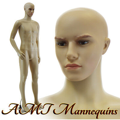 6ft1 -Male mannequin w.removable head/arm, head rotates, manequin, manikin-CM1