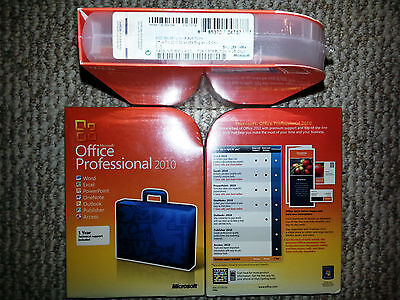 Microsoft Office Professional 2010,SKU 269-14964,Sealed Retail Box,32-bit,64-bit