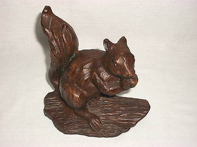 Chalkware Squirrel Figurine